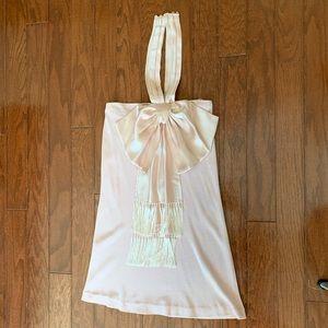 Vintage Christian Dior blush bow dress